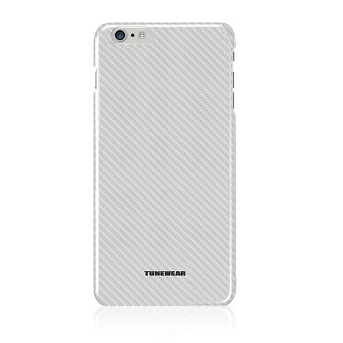 Tunewear Carbonlook - polycarbonate case for iPhone 6 Plus, iPhone 6S Plus (silver)