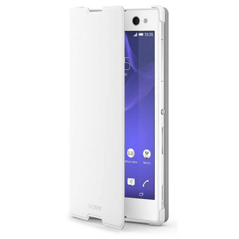 Sony Style Cover SCR15 for Xperia C3 (white)