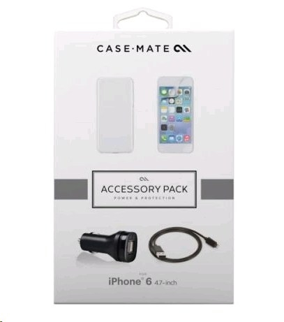 CaseMate Accessory Kit - case, charger, cable and screen protector for iPhone 6, iPhone 6S