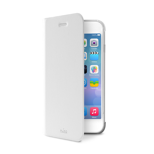 Puro Booklet case for iPhone 6 Plus, iPhone 6S Plus (white)
