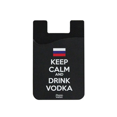 Out Of Style Phone Wallet Keep Calm And Drink Vodka