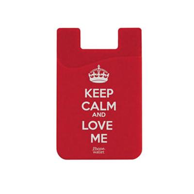 Out Of Style Phone Wallet Keep Calm And Love Me - практичен силиконов джоб, прикрепящ се към гърба на вашето мобилно устройство