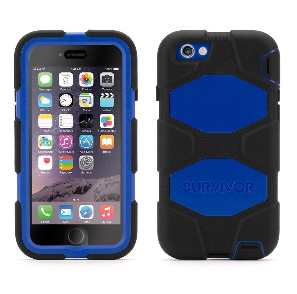 Griffin Survivor Extreme-Duty Case for iPhone 6, iPhone 6S (black-blue)