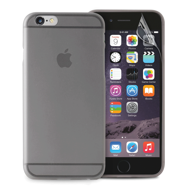 Puro Ultra-Slim silicone case for iPhone 6, iPhone 6S (black)