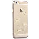 Comma Crystal Flora Case - поликарбонатов кейс за iPhone 6, iPhone 6S (с кристали Сваровски) (златист)