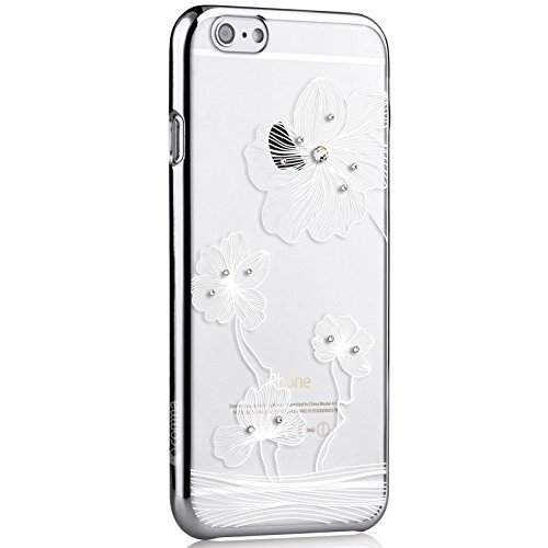 Comma Crystal Flora Case with Swarovski Elements for iPhone 6, iPhone 6S (silver)
