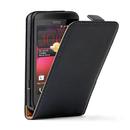 Leather Flip Case - вертикален кожен калъф за HTC Desire 200 (черен)