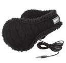 Degrees by 180s Cable Knit Audio Headphone Ear Warmer - ушанки с вградени слушалки за iPhone и мобилни устройства (черен)