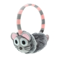 KitSound On-Ear Mouse Knit InLine Mic Audio Earmuffs - ушанки с вградени слушалки с 3.5 мм аудио жак и микрофон за iPhone и мобилни устройства (сив)