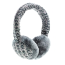 KitSound On-Ear Multi Lurex Knit Audio Earmuffs - ушанки с вградени слушалки с 3.5 мм аудио жак за iPhone и мобилни устройства (сив)