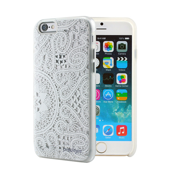 Prodigee Show Case - хибриден кейс и покритие за дисплея за iPhone 6 Plus, iPhone 6S Plus (бял)