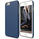 Elago S6P Slim Fit 2 Case + HD Clear Film - качествен кейс и HD покритие за iPhone 6 Plus, iPhone 6S Plus (тъмносин)