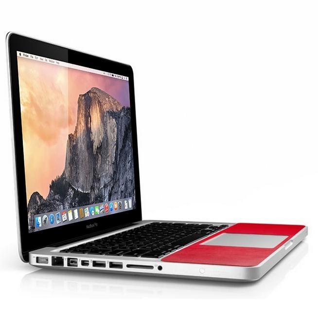 TwelveSouth SurfacePad - кожено защитно покритие за частта под дланите на MacBook Pro 13, Retina 13 (червен)
