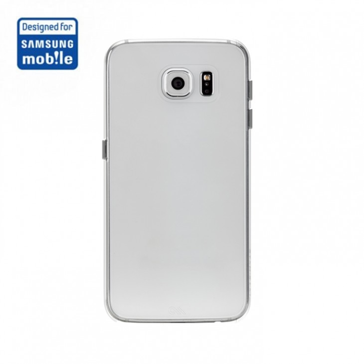 CaseMate Barely There - поликарбонатов кейс за Samsung Galaxy S6 (прозрачен)