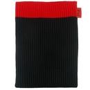 Skin cover - плетен калъф за iPad 4, iPad 3, iPad 2 (черен-червен)