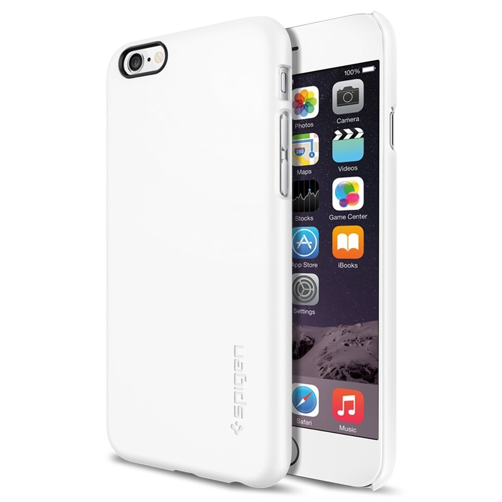 Spigen Thin Fit Case - качествен кейс за iPhone 6, iPhone 6S (бял)