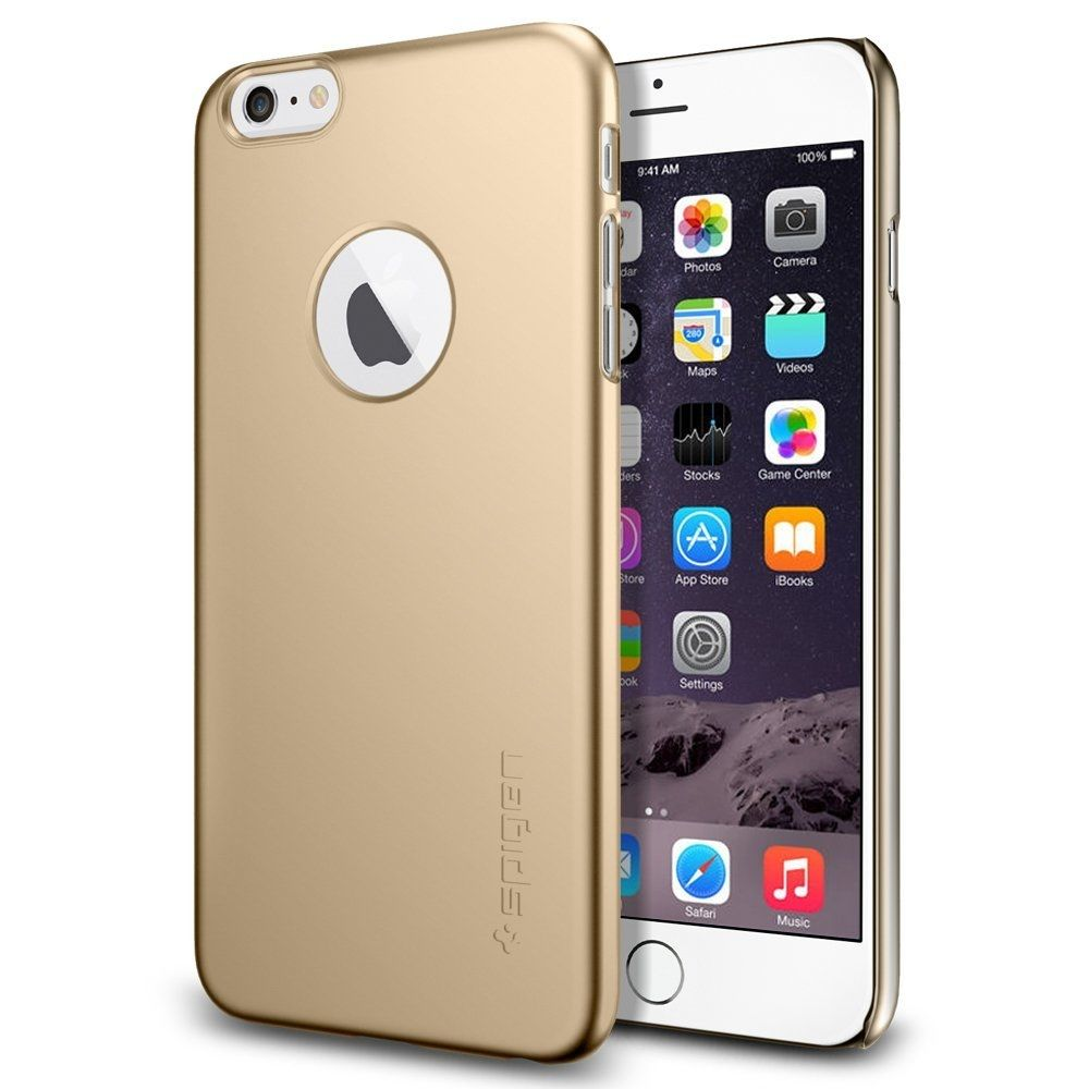 pretty nice 57ad2 dd48a Spigen Thin Fit Case A - качествен кейс за iPhone 6 Plus, iPhone 6S Plus  (златист)