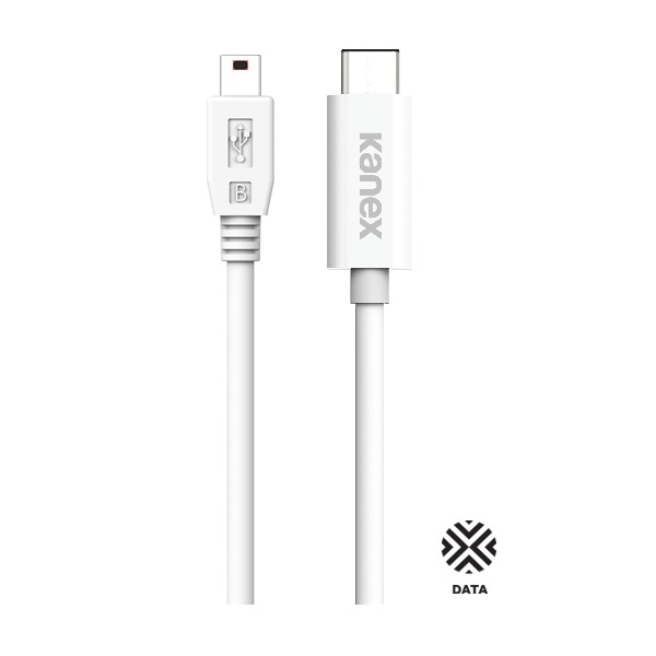 Kanex USB-C to mini-B Cable - mini-B (miniUSB) кабел за MacBook и устройства с USB-C порт