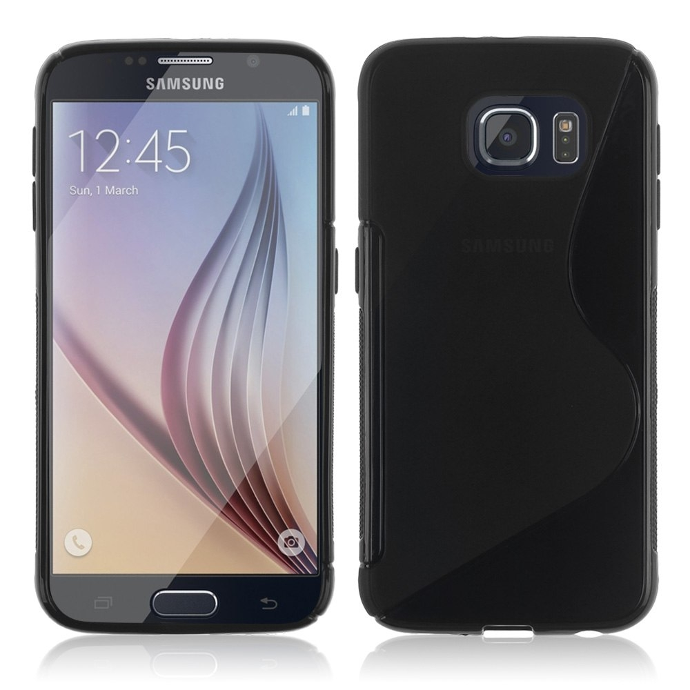 S-Line Cover Case - силиконов (TPU) калъф за Samsung Galaxy S6 Edge (черен)