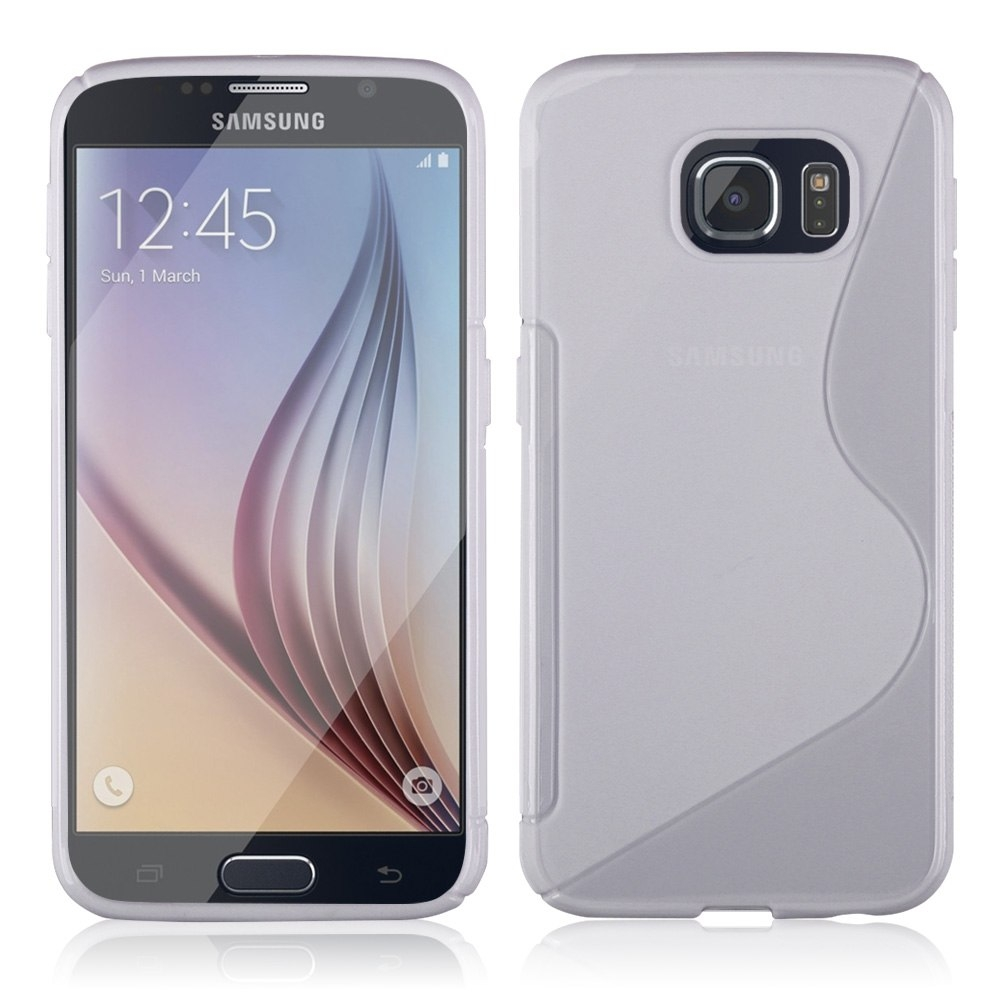 S-Line Cover Case - силиконов (TPU) калъф за Samsung Galaxy S6 Edge (прозрачен)