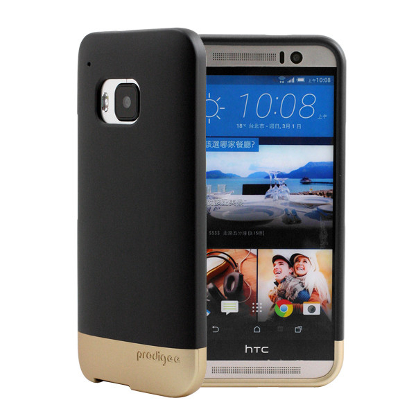 Prodigee Accent Case - поликарбонатов слайдер кейс за HTC One 3 M9 (черен-златист)
