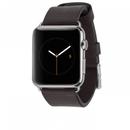 Casemate Signature Leather Strap - класическа кожена каишка за Apple Watch 42мм (черен)