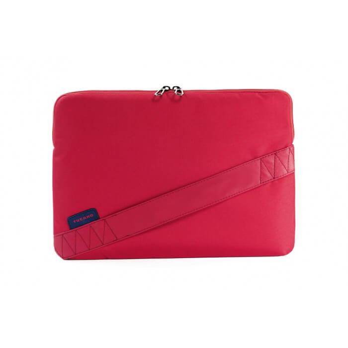 Tucano Bisi Sleeve - практична полиестерна чанта за MacBook Air 13, MacBook Pro 13, Ultrabooks и нетбуци (червен)