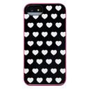 Agent18 Shock Heart - хибриден ударойстойчив кейс за iPhone 5S, iPhone 5, iPhone SE (черен)