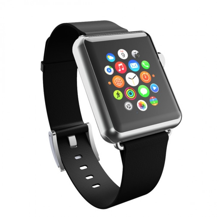 Incipio Premium Leather Watch Band for Apple Watch 42mm, 44mm (ebony) WBND-009-EBNY