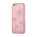 Comma Crystal Flora 360 Case - поликарбонатов кейс за iPhone 6 Plus, iPhone 6S Plus (с кристали Сваровски) (розов)