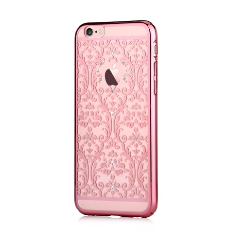 Devia Baroque Case With Swarovski Elements For IPhone 6 Plus 6S Rose Gold