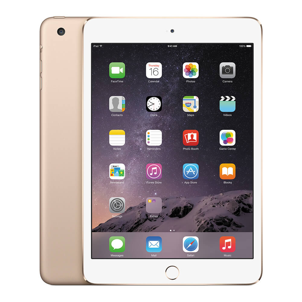 Apple iPad mini 4 Wi-Fi + 4G, 128GB, 7.9 инча, Touch ID (златист)