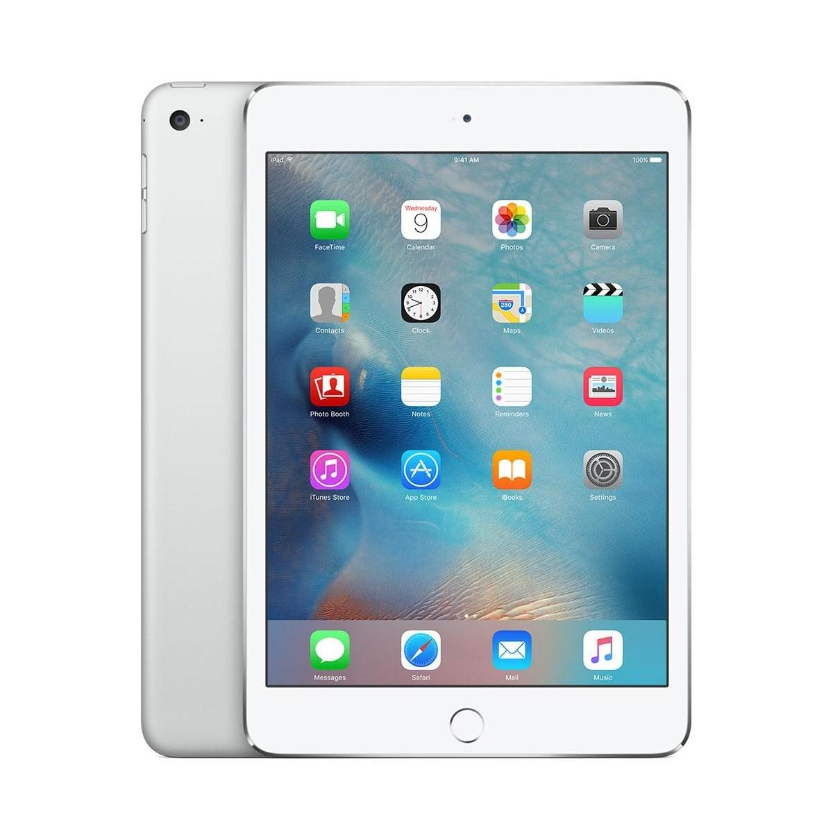 Apple iPad mini 4 Wi-Fi + 4G, 128GB, 7.9 инча, Touch ID (сребрист)