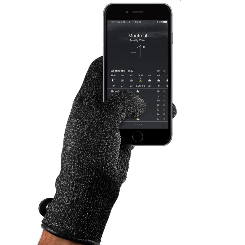 Mujjo Single Layered Touchscreen Gloves Size M (black)