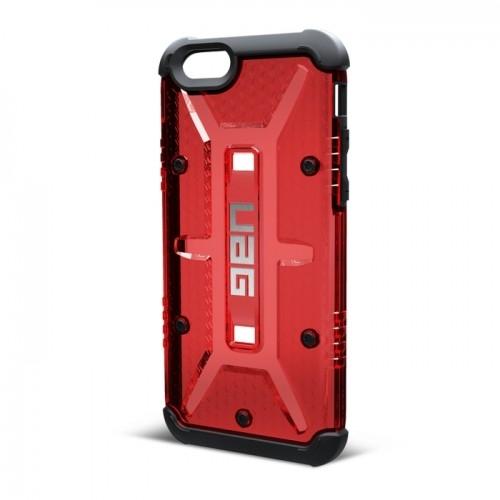Urban Armor Gear Scout - удароустойчив хибриден кейс + HD покритие за iPhone 6 Plus, iPhone 6S Plus (червен)