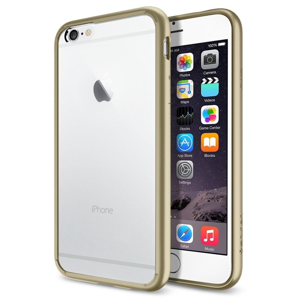 Spigen Ultra Hybrid Case for iPhone 6, iPhone 6S (clear-gold)