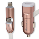 4Smarts MultiCord Car Charger Micro-USB + Lightning black (rose gold)