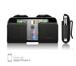 Elago Slim Glide - кожен калъф за iPhone 4/4S (естествена кожа)