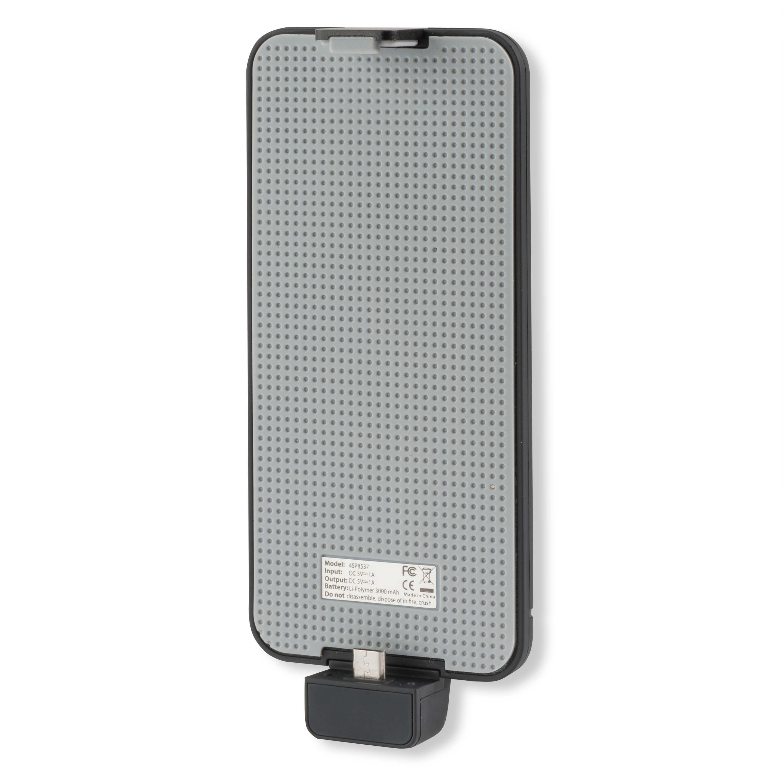 4smarts PowerClip Power Bank MicroUSB - универсален кейс с вградена батерия 3000 mAh с MicroUSB за смартфони с MicroUSB