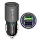 4smarts Qualcomm Rapid Quick Charge 2.0 In-Car Charger 4.5A - ������� �� ���� � ���������� �� ����� ��������� (4.5 ������) � 2 USB ������ (�����-��������)