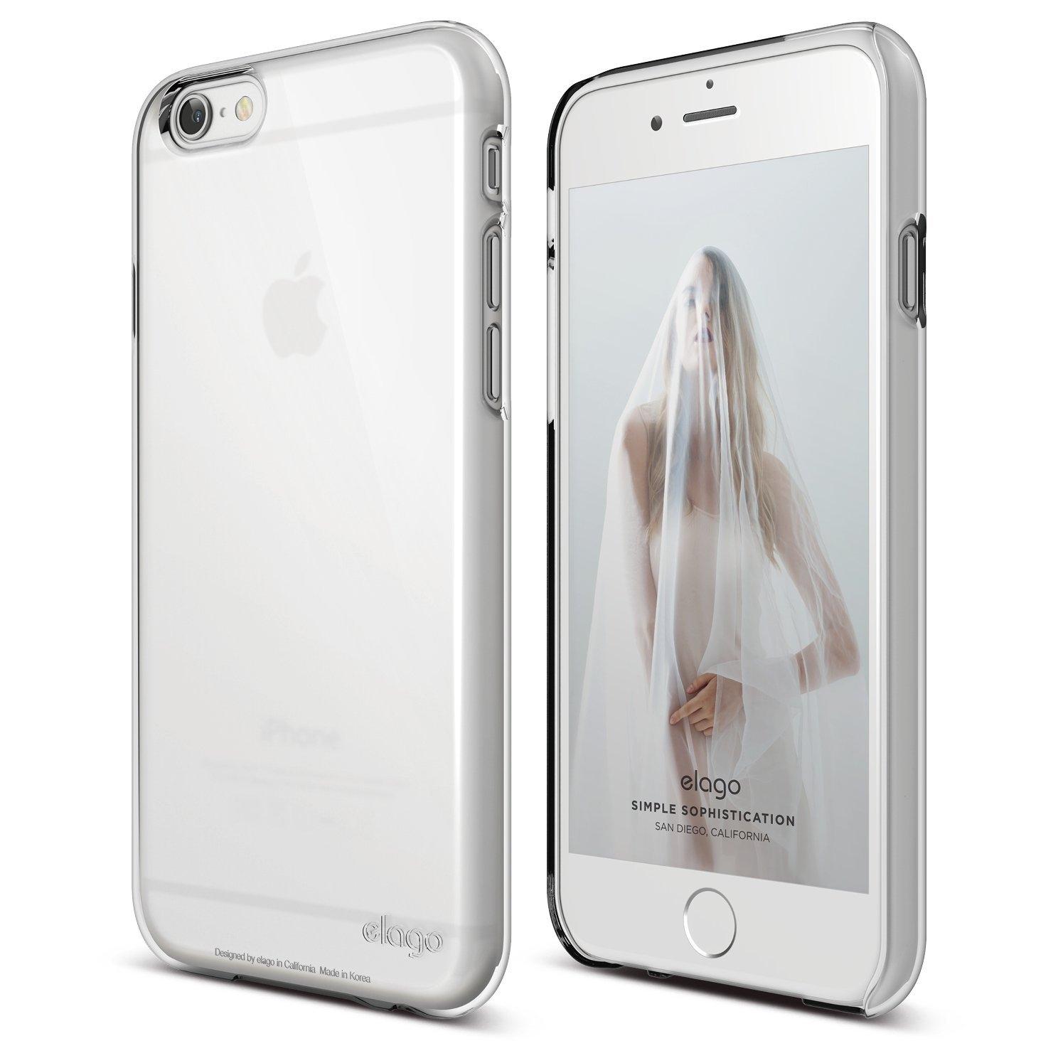 Elago Core Case - хибриден кейс (полипропилен + PC) и HD покритие за iPhone 6S, iPhone 6 (бял)