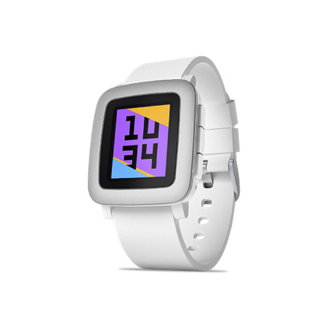 Pebble Time Smartwatch - bluetooth тъч часовник за iOS и Android смартфони (бял)