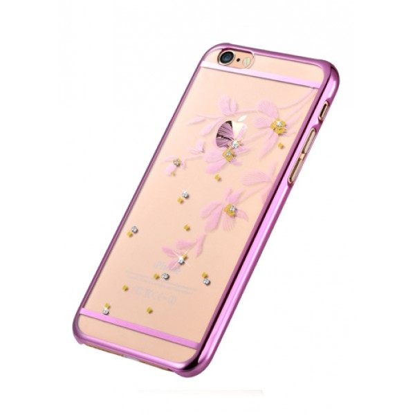 Iphone 6 Colors Rose Gold Devia Flowery Case With Swarovski Elements For