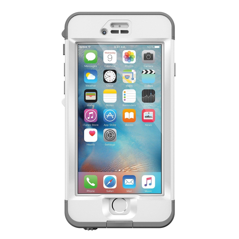 LifeProof Nuud Touch ID - удароустойчив и водоустойчив кейс за iPhone 6S Plus (бял)