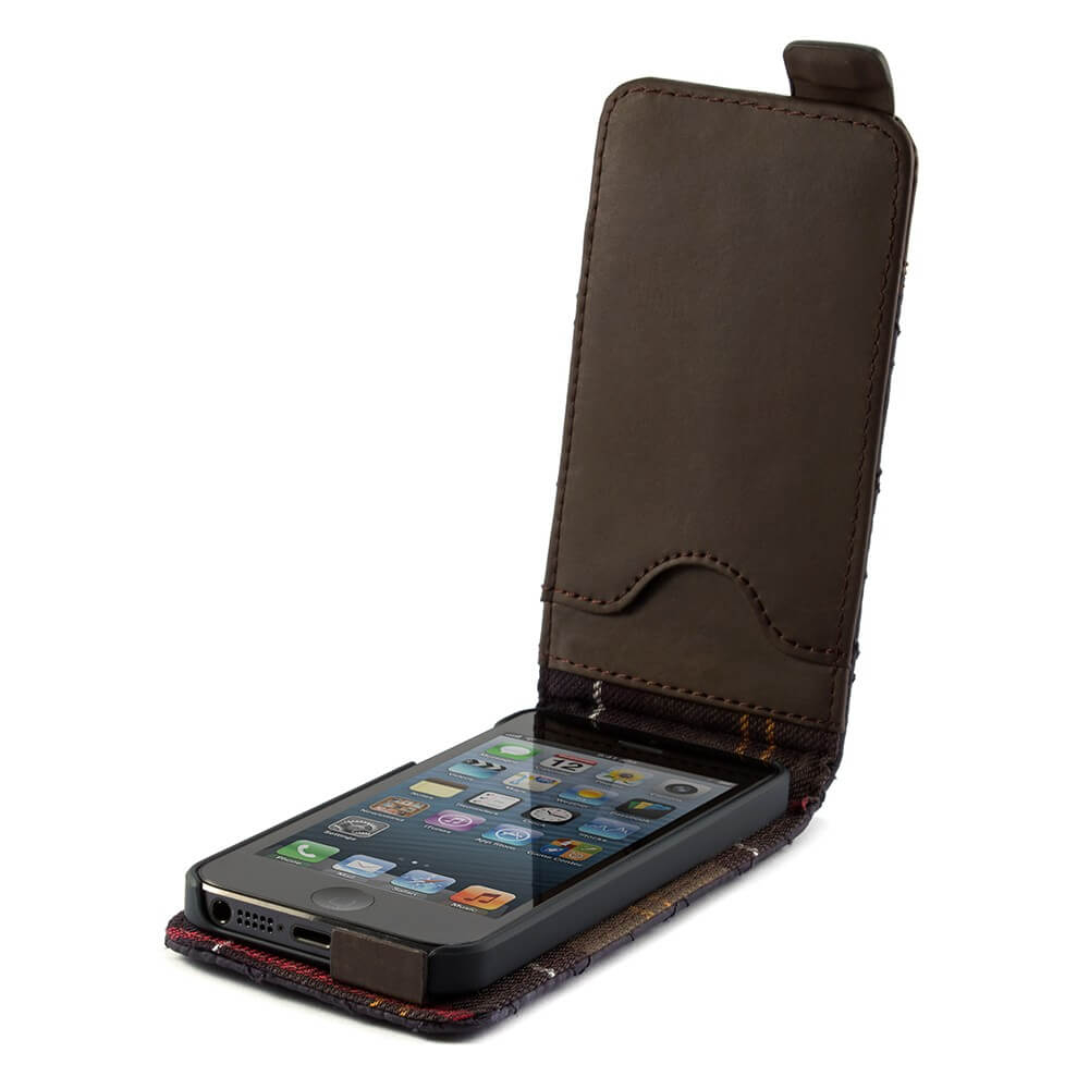 proporta barbour quilted leather flip case for iphone se iphone 5s iphone 5 olive green. Black Bedroom Furniture Sets. Home Design Ideas