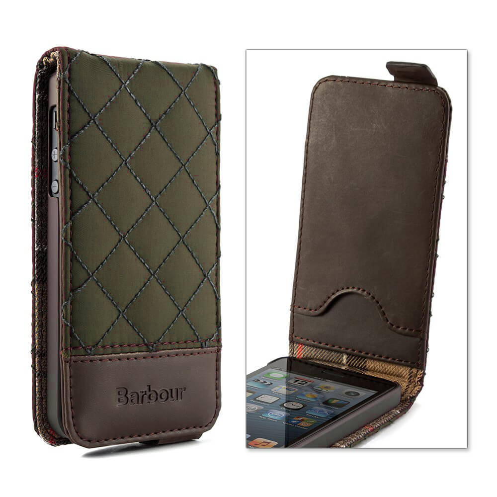 Proporta Barbour Quilted Leather Flip Case For Iphone Se