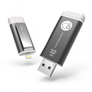 Adam Elements iKlips Lightning 32GB - външна памет за iPhone, iPad, iPod с Lightning (32GB) (тъмносив)