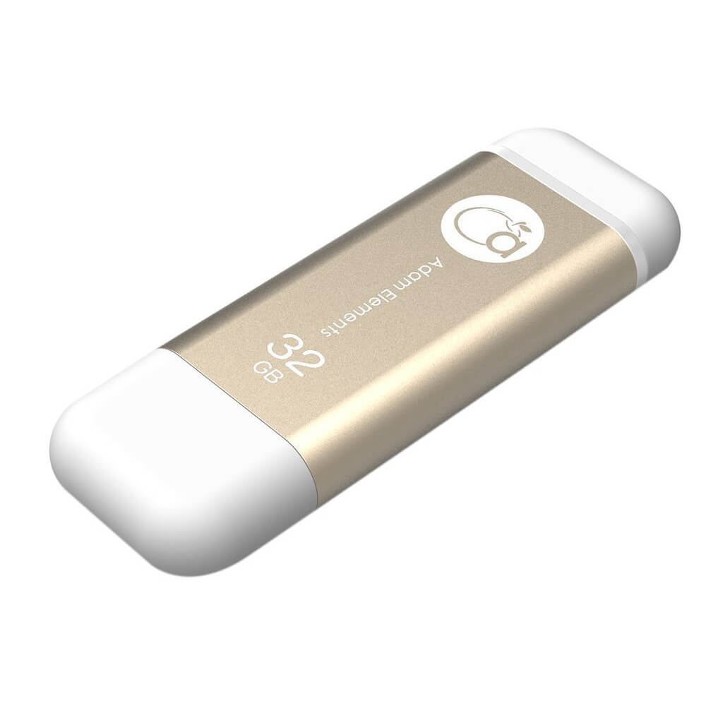 Adam Elements iKlips Lightning 32GB - външна памет за iPhone, iPad, iPod с Lightning (32GB) (златист)