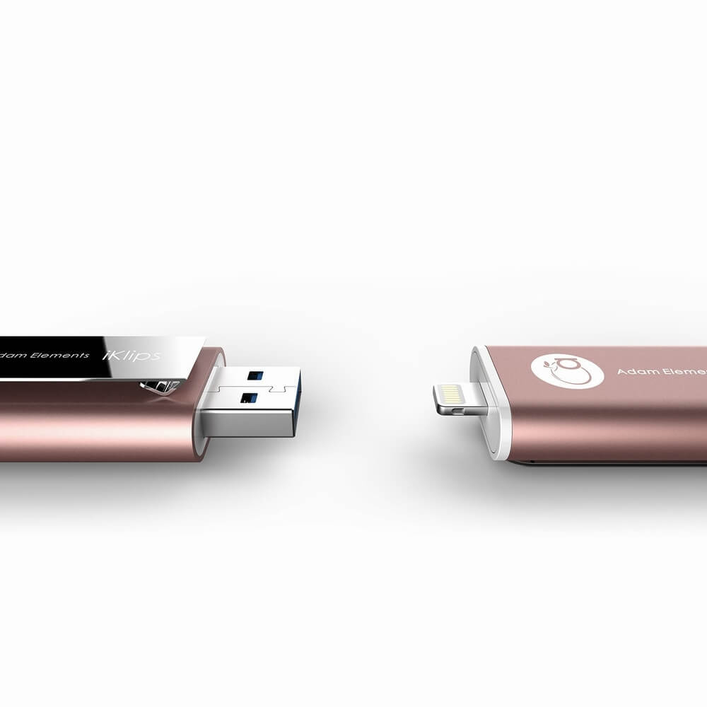Adam Elements iKlips Lightning 64GB - външна памет за iPhone, iPad, iPod с Lightning (64GB) (розово злато)