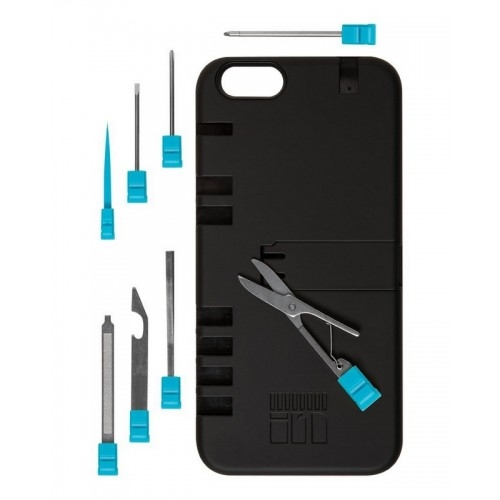 IN1 Multi Tool Case for iPhone 6, iPhone 6S (black-blue)